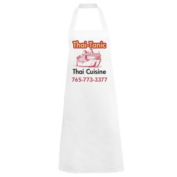 Thai Tanic Apron Basic White Apron