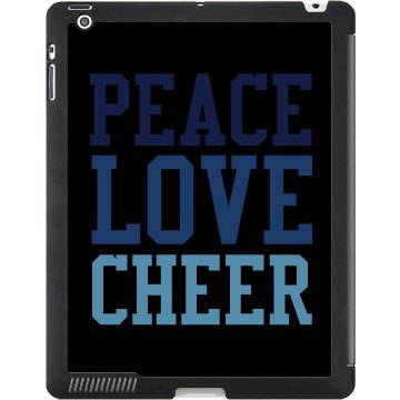 Peace Love Cheer Black iPad Smart Cover