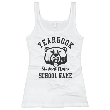 Yearbook Crew Tank Junior Fit Basic Bella 2x1 Rib Tank Top