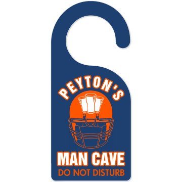Peyton Football Man Cave Door Knob Hanger