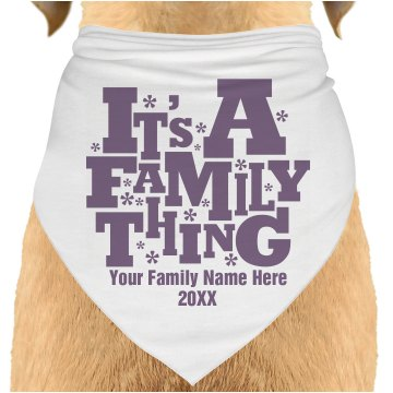 Family Reunion Dog Dog Bandana