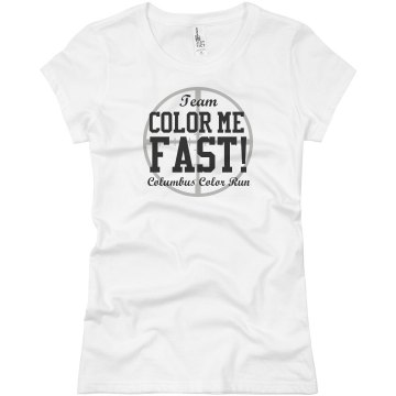 Color Me Fast Color Run Junior Fit Basic Bella Favorite Tee