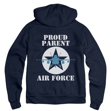 Proud Marine Parent Unisex Gildan Heavy Blend Full Zip Hoodie