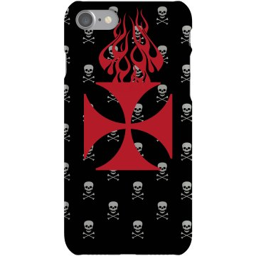Cross & Skull Case Plastic iPhone 5 Case White