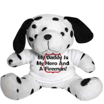 Dalmation Firefighter Plush Dalmatian Dog