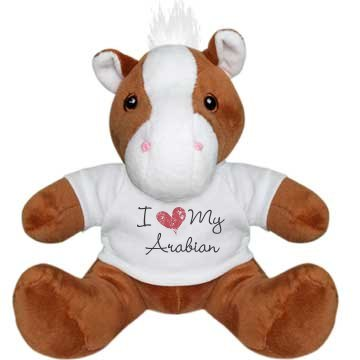 Brown/White Pony Plush Pony