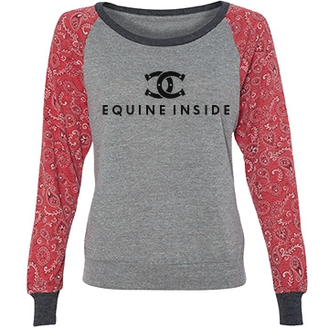 Equine Inside Junior Fit Bella Slit V-Neck Tee