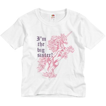 Big Sister Unicorn Youth Basic Gildan Ultra Cotton Crew Neck Tee