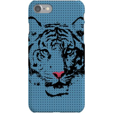 Blue Tiger iPhone Case Plastic iPhone 5 Case White