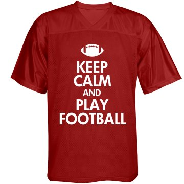 Keep Calm &amp; Play Football Unisex Augusta Replica Football Jersey