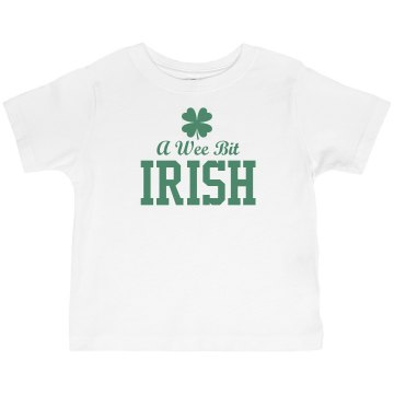 A Wee Bit Irish Toddler Basic Gildan Ultra Cotton Crew Neck Tee