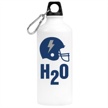 Football H20 Bottle Aluminum Water Bottle