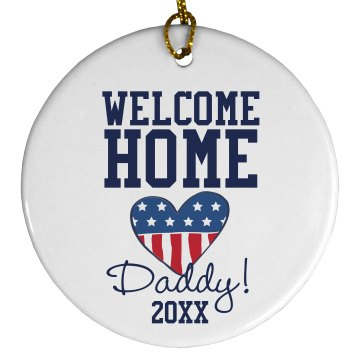 Welcome Home Ornament Plastic Ball Ornament