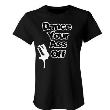 Dance Off Tee Junior Fit Bella Double V Sheer Jersey Tee