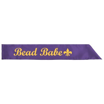 Bead Babe Mardi Gras Sash Adult Satin Party Sash