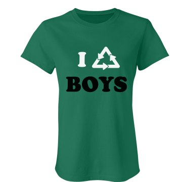 I Recycle Boys Junior Fit Bella Crewneck Jersey Tee