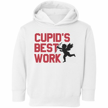 Cupid's Best Work Toddler Rabbit Skins Hooded Sweatshirt