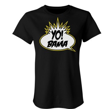 Yo Obama! Junior Fit Bella Crewneck Jersey Tee