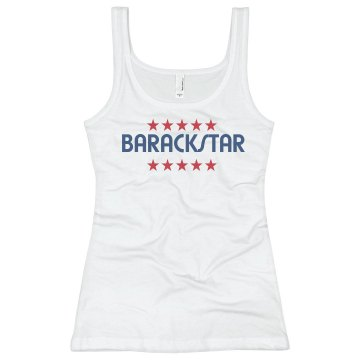 Barackstar Junior Fit Bella Slit V-Neck Tee