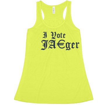 Your Mama Said Vote Obama Junior Fit Bella 1x1 Rib Cap Sleeve Raglan Tee
