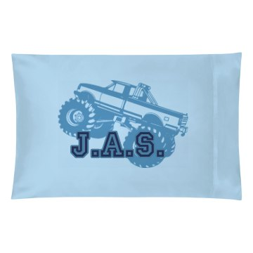 Custom Boy Initials Case Pillowcase
