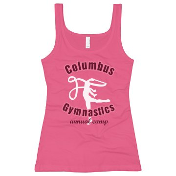 Columbus Gymnastics Junior Fit Soffe 2x1 Rib Tank Top