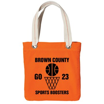 Basketball Boosters Bag Port Authority Color Canvas Tote