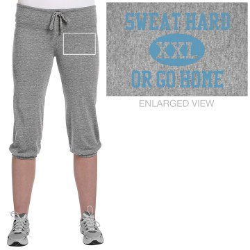 Go Home Workout Junior Fit Soffe Fleece Capri