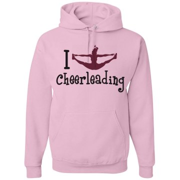 I Love Cheerleading Unisex Gildan Heavy Blend Hoodie
