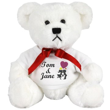 Tom & Jane Medium Plush Teddy Bear