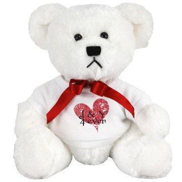 J &amp; Y 4ever Medium Plush Teddy Bear