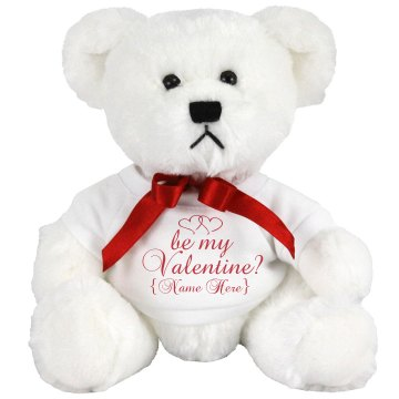 Be My Valentine? Medium Plush Teddy Bear