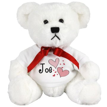 I Love Joe Medium Plush Teddy Bear