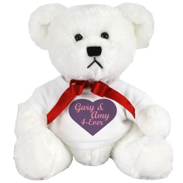 Gary & Amy 4-Ever Medium Plush Teddy Bear