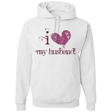 I Heart My Husband! Unisex Gildan Heavy Blend Hoodie