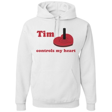 Tim Controls My Heart Unisex Hanes Ultimate Cotton Heavyweight Hoodie
