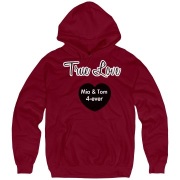 True Love Mia And Tom Unisex Hanes Ultimate Cotton Heavyweight Hoodie