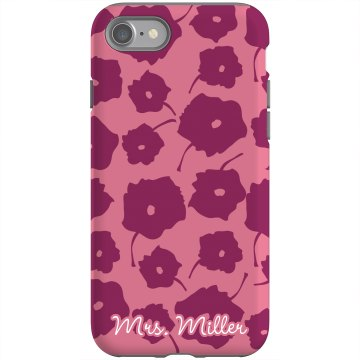 Mrs. Custom iPhone Case Rubber iPhone 4 &amp; 4S Case Black