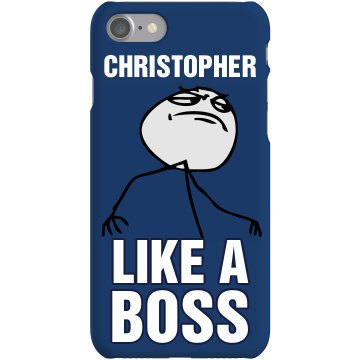 Chris Like a Boss iPhone Plastic iPhone 5 Case Black