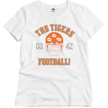 Tiger Football Girlfriend Junior Fit Brightline 3/4 Sleeve Jersey Tee