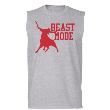 Beast Mode Sleeveless Unisex Gildan Ultra Cotton Sleeveless Tee