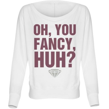 Oh You Fancy Huh Misses Bella Flowy Lightweight Relaxed Dolman Tee