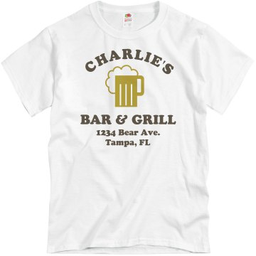 Bar & Grill Unisex Basic Gildan Heavy Cotton Crew Neck Tee