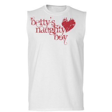 Naughty Boy Distressed Unisex Basic Gildan Ultra Cotton Sleeveless Tee