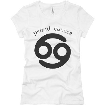 Proud Cancer Junior Fit Basic Bella Favorite Tee