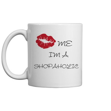 Shopaholic Kiss Mug 11oz Ceramic Coffee Mug