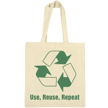 Use, Reuse, Repeat Liberty Bags Canvas Tote