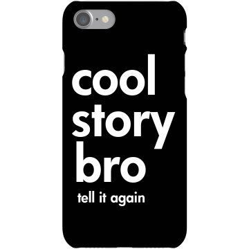 Cool Story Bro Call Again Plastic iPhone 5 Case Black