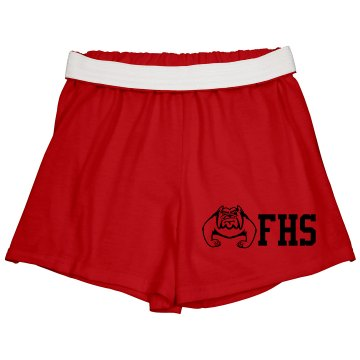 High School Spirit Shorts Junior Fit Bella Fitness Shorts