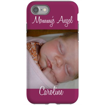Mommy's Baby Angel Rubber iPhone 4 & 4S Case Black